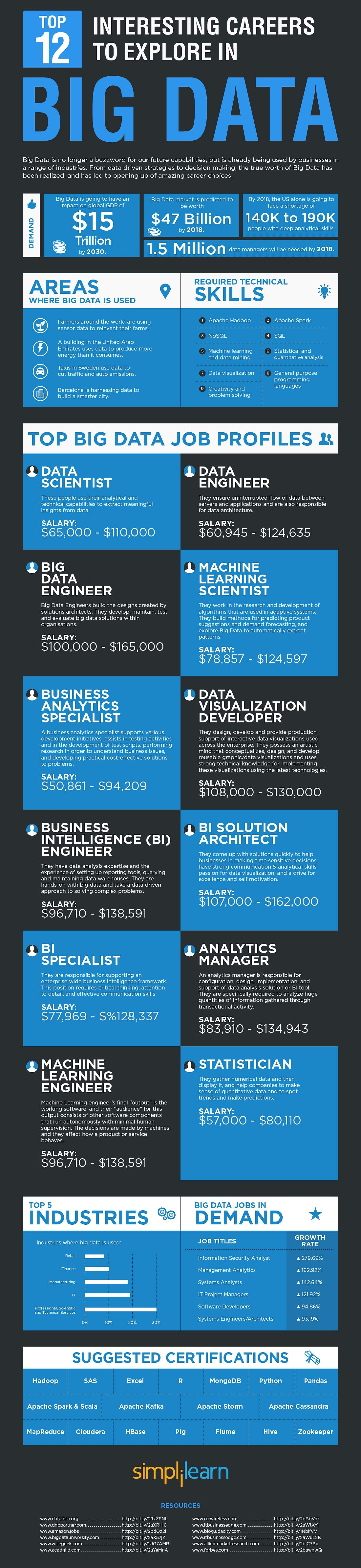 Career in Big Data Infographic