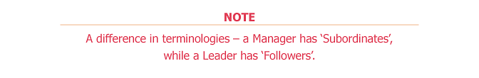 Leader Vs Manager - Note 1