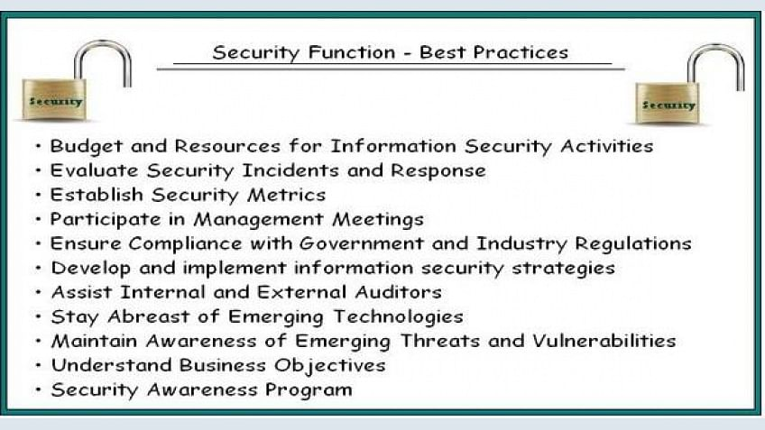 11 Best Practices to Manage the Security Function