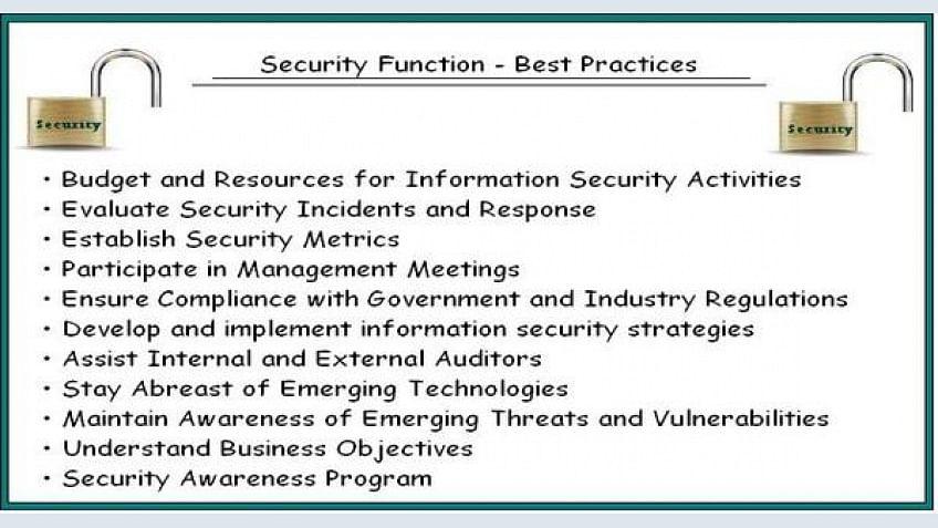 11 Melhores práticas para gerenciar a função de segurança