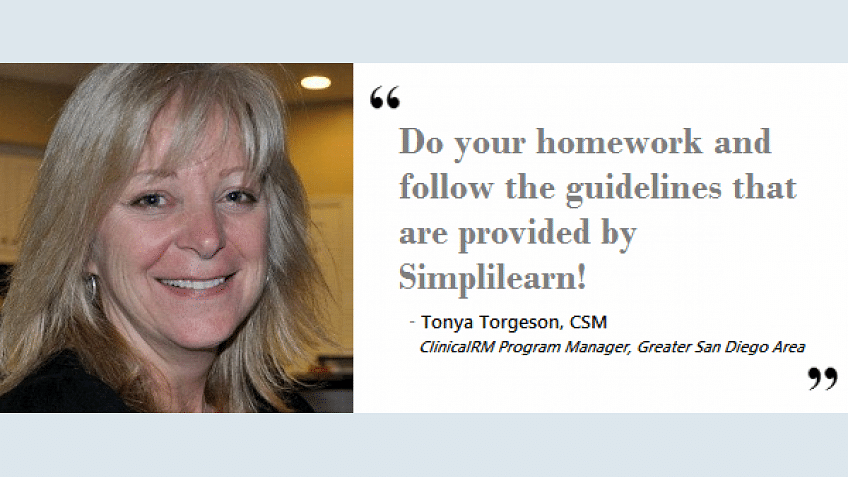 Simplilearn's CSM certification training helped me in 3 ways | Tonya Torgeson, CSM