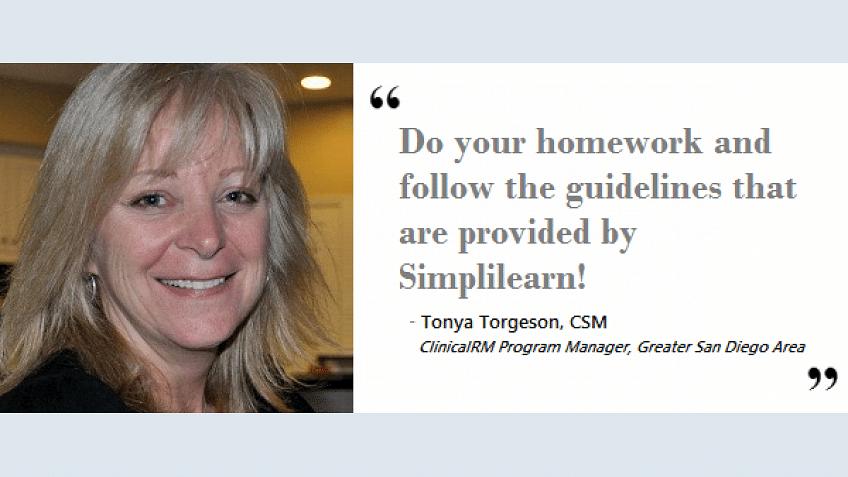 O treinamento de certificação CSM da Simplilearn me ajudou de três maneiras | Tonya Torgeson, CSM