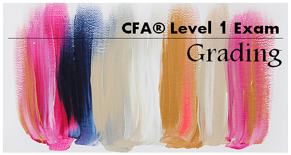How is CFA Level 1 exam graded?