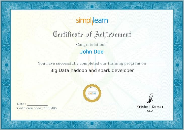 Big Data Hadoop Certificate