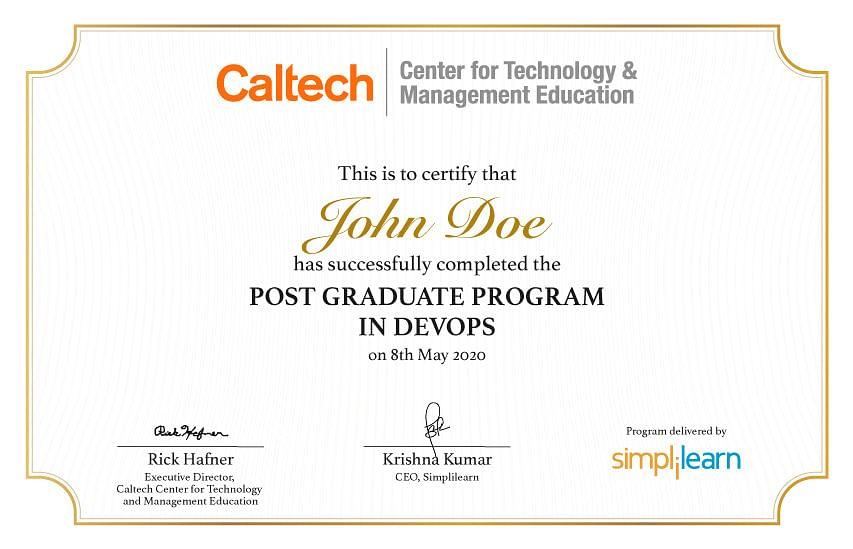 Caltech Calendar 2022.Devops Certification Training Course Pgp With Caltech Ctme