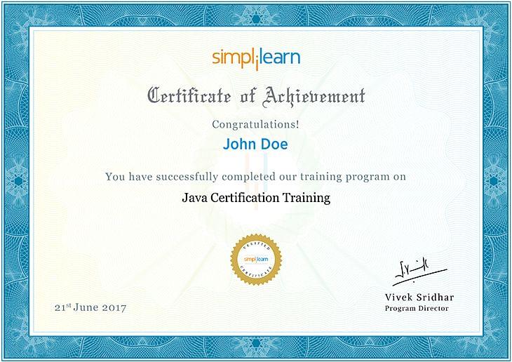 Java Certification Course   Java Certification Training