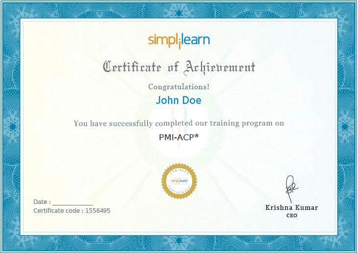 PMI-ACP Certificate
