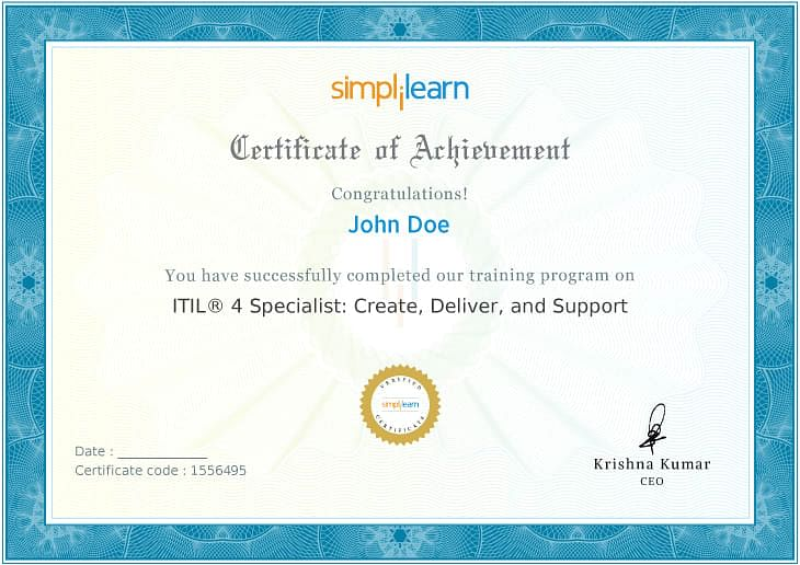 ITIL 4 Specialist: Create, Deliver and Support