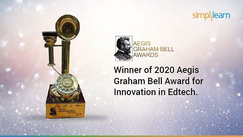 Simplilearn Wins 2020 Aegis Graham Bell Award for Innovation in Edtech