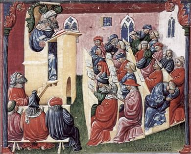 A mid-fourteenth century painting