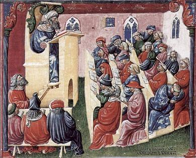 Uma pintura de meados do século XIV