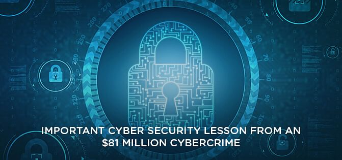 Cybersecurity Lessons from an $81 Million Cyber Crime
