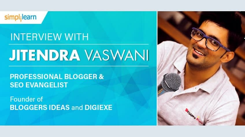 Jitendra Vaswani: A professional blogger sharing his secrets