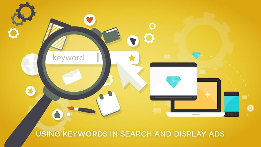 Using keywords in search and display ads