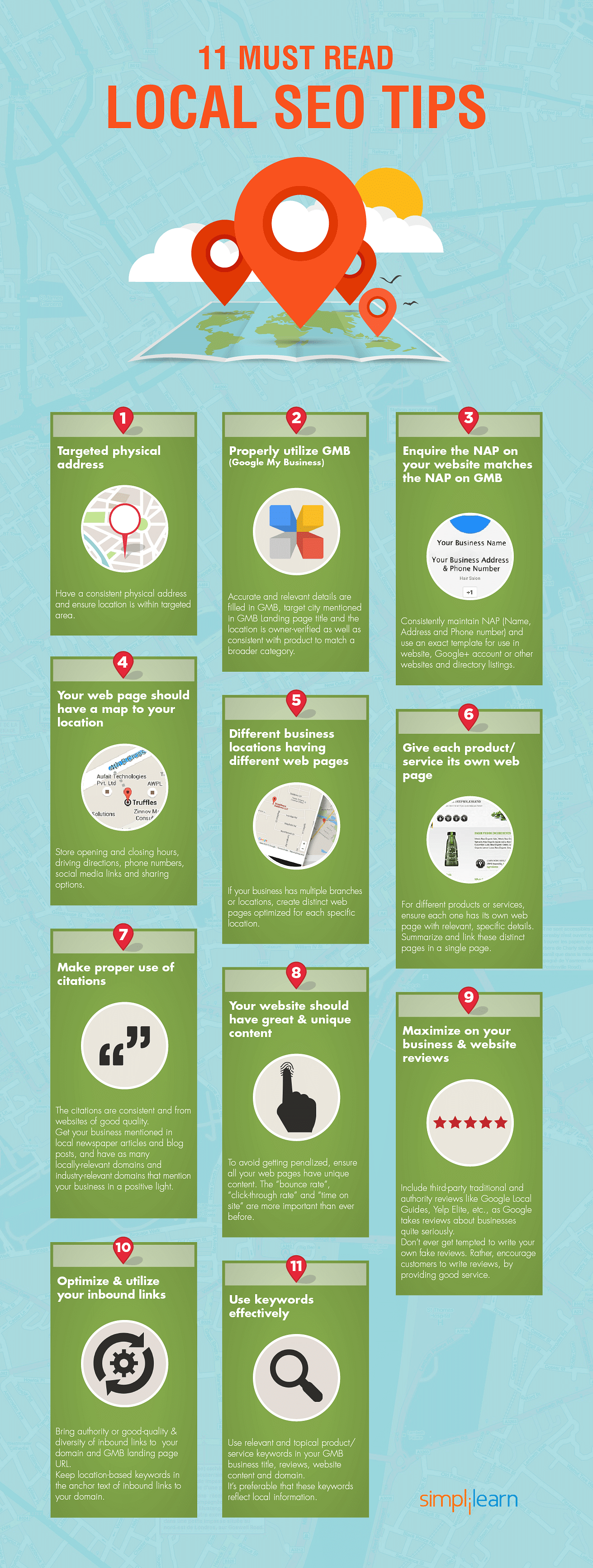 seo tips infographic