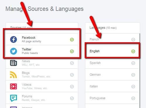 Gerenciar fontes e idiomas