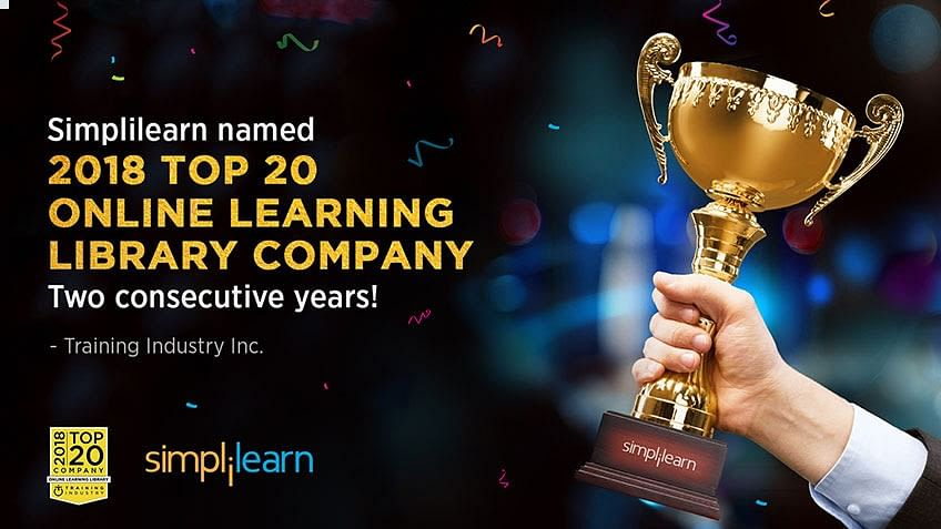 Simplilearn Wins Top 20 Online Learning Library Companies of 2018