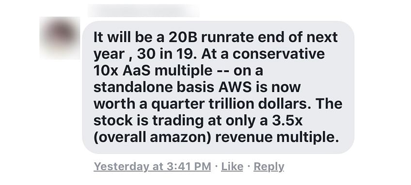 3 things it companies can learn from aag cloud revenue numbers i think his math is a little off as it puts a current valuation based on what he estimates aws 2019 revenues will be on the other hand his 2018 and 2019 fandeluxe Choice Image