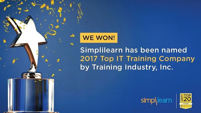 Simplilearn Named a Top 2017 IT Training Company by Training Industry Inc.