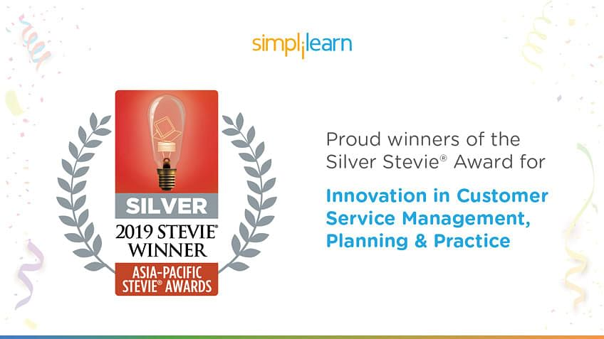 Simplilearn Wins 2019 Stevie® Award for Innovation in Customer Service Management