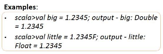 basic literals of scala 1