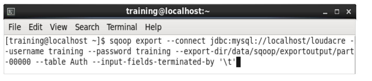 command-to-export-data-from-hadoop-using-sqoop
