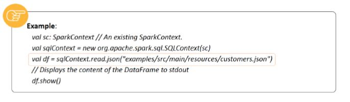 creating dataframe based on json using spark sql