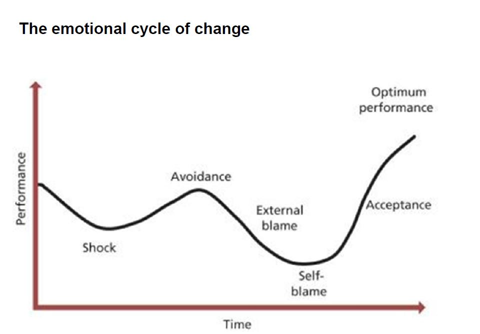 emotional cycle organisational change