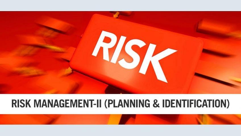 PMP Risk Management Parte II - Planejamento para as avarias súbitas