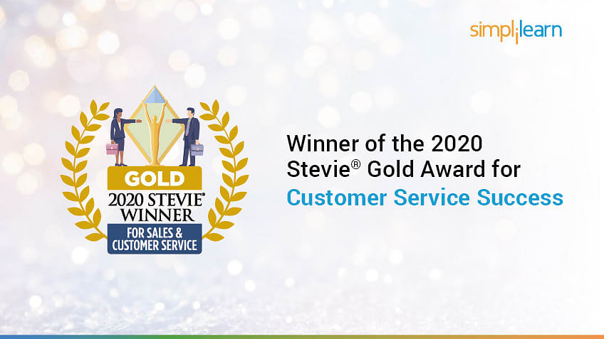 Simplilearn Wins 2020 Stevie® Gold Award for Customer Service Success