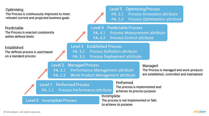 Attributes of process capability level