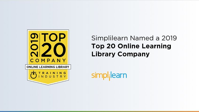 Simplilearn Named a 2019 Top 20 Online Learning Library Company