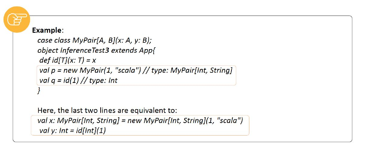 type inference for polymorphic and generic classes in scala